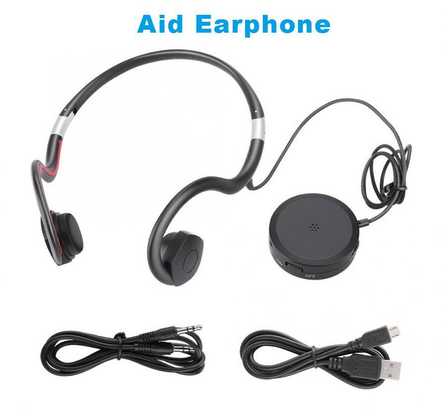 BN802 Hearing Aid headphone Bone Conduction earphone old man headset sports earphone built-in battery sound amplifier